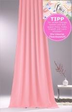 Vorhang für Verdunkelung mit Thermoeffekt Rosé