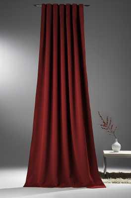 Vorhang für Verdunkelung mit Thermoeffekt Bordeaux-rot
