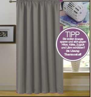 Vorhang für Verdunkelung mit Thermoeffekt Grau