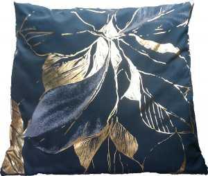 Kissenhülle schwarz mit Golddruck 40x40 cm