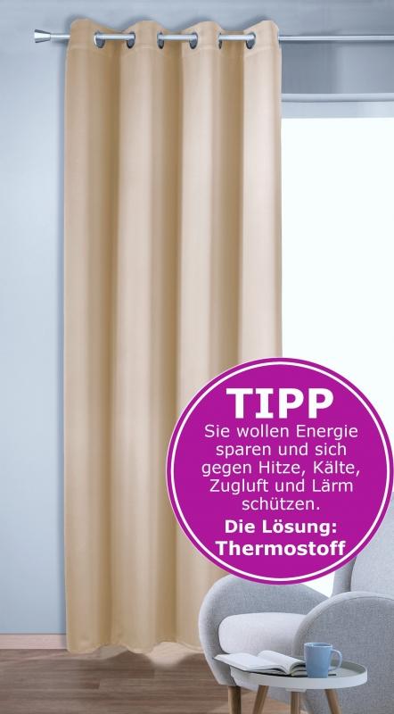 vorhang gardine zur raumverdunkelung mit thermoeffekt novum decoration. Black Bedroom Furniture Sets. Home Design Ideas