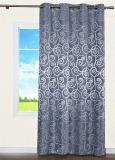 Vorhang, Schal mit Ösen * Jacquard-Gewebe 140x245 cm (BxH) * Silber-grau*