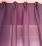 Gardine Dekoschal mit 3-er Faltenband*MASSANFERTIGUNG XXL bis 350 cm Länge* Dark-Violett*