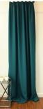 Gardine Dekoschal mit 3-er Faltenband*MASSANFERTIGUNG XXL bis 350 cm Länge* PETROL