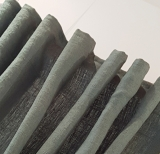 Dekoschal 100% LEINEN, Naturfaser,   RAUCH-GRÜN   XXL bis 350 cm hoch