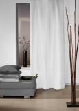 Vorhang 100% Black Out Verdunkelung * schwerentflammbar * Kräuselband * bis 400 cm hoch * weiß (135x250cm)