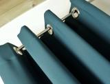 Dekoschal* blickdicht* GRAU-BLAU  mit Ösen verschiedenen Längen bis  350 cm *MASSANFERTIGUNG*