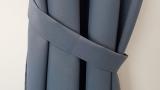 Dekoschal* blickdicht* GRAU  mit Ösen verschiedenen Längen bis  350 cm *MASSANFERTIGUNG*