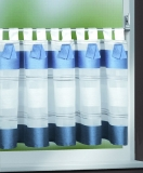 Cafehausgardine , blaue Streifen 45x140cm(HxB)